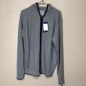 NWT Northwest Blue lightweight mens hooded sweater